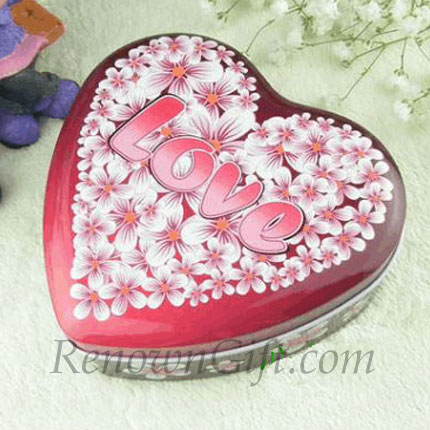 Heart Shaped Mint Tin with Love Letters