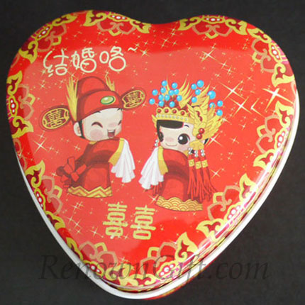 Chinese Traditional Bride and Groom Mint Tin