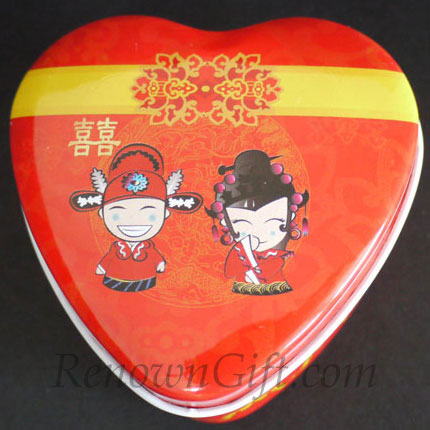 Chinese Traditional Couple Wedding Candy Tin