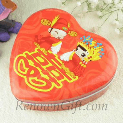 Chinese Traditional Bride and Groom Wedding Candy Box