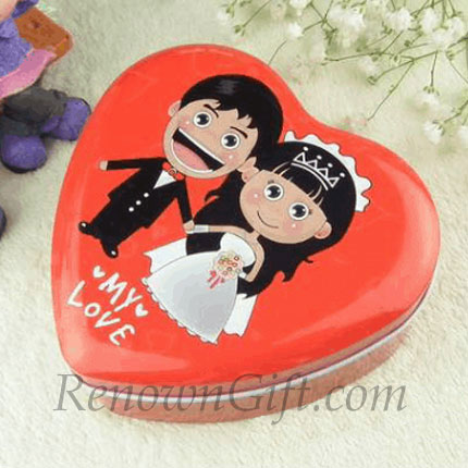 Comics Bride and Groom Wedding Mint Tin Favour