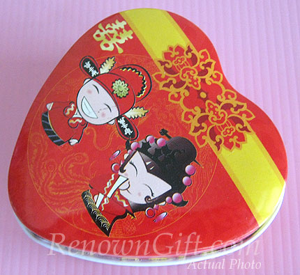MT23 Chinese Traditional Couple Wedding Chocolate Tin