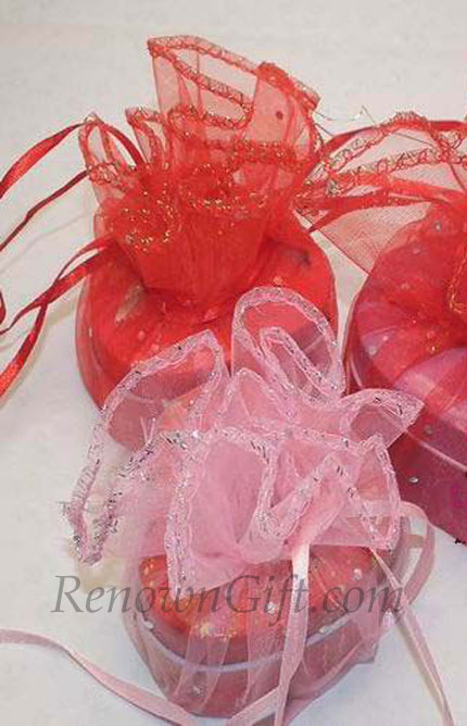 Wedding Mint Tins Organza Wrapper