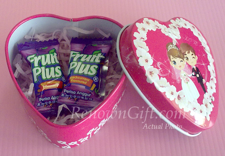 Wedding Mint Tin Favors with Candy