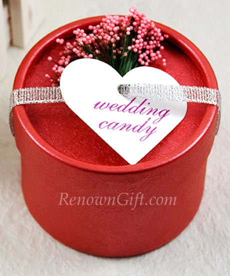 Red Round Candy Box Favour
