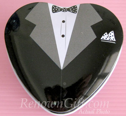 MT01B Groom Mint Tin in Tuxedo