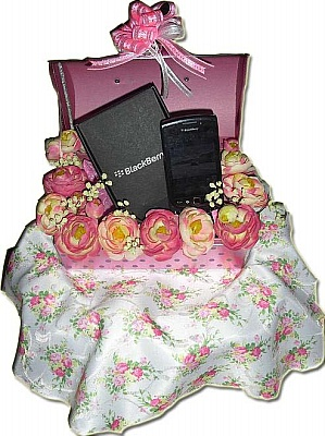 hantaran pink putih kotak