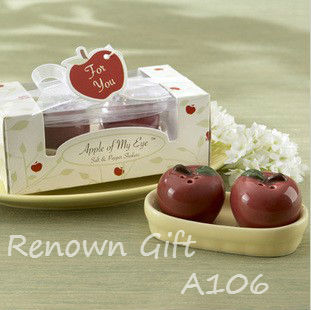 Apple of My Eye Ceramic Salt & Pepper Shakers