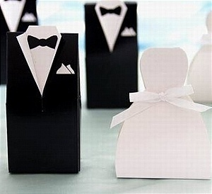bride groom favor box
