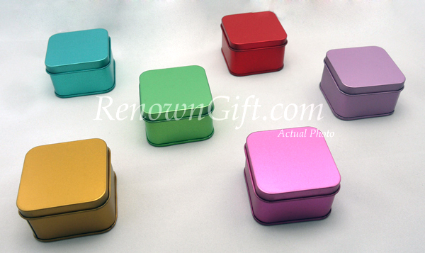 square metalic mint tin