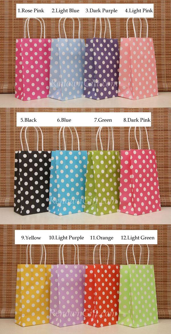 kraft polka-dot paperbag