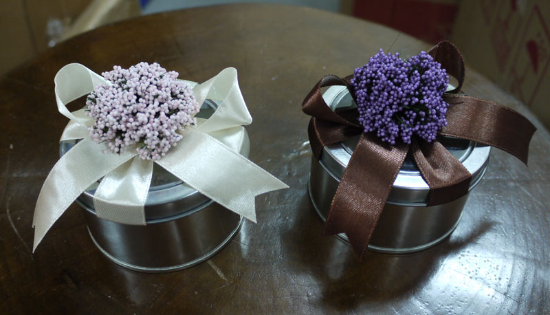 lavender tin candy box