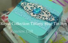 Royal Collection Tiffany Blue Tin Box