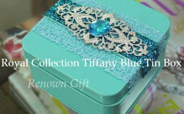 Royal Collection Tiffany Blue Tin Box