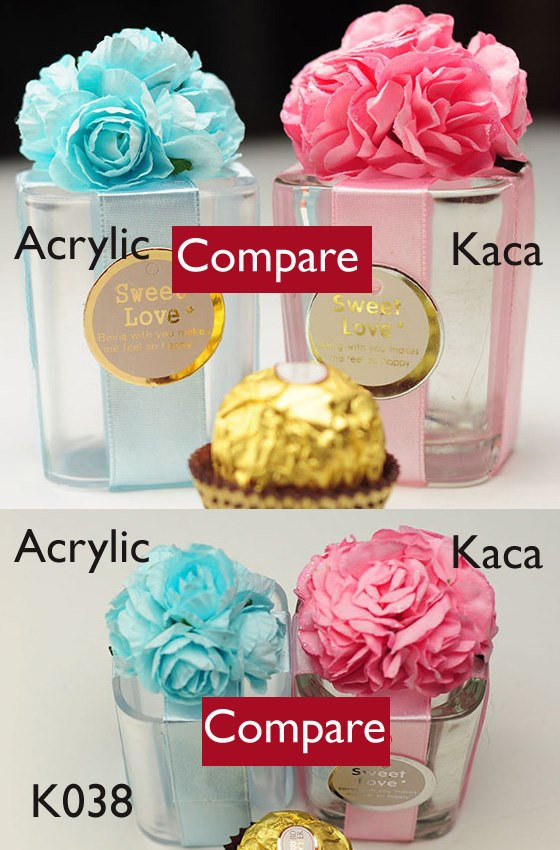 acrylic compare kaca