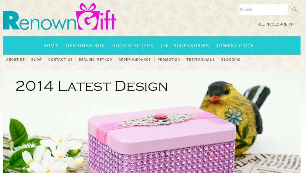 renown gift shopping cart