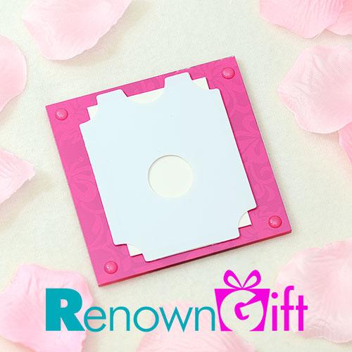 pink floral coaster