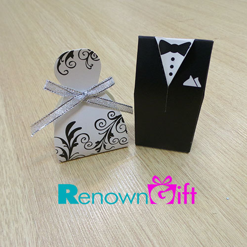bride and groom wedding box