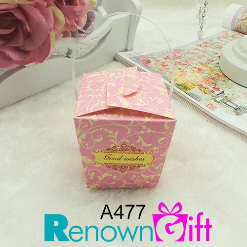 vector paper box pink