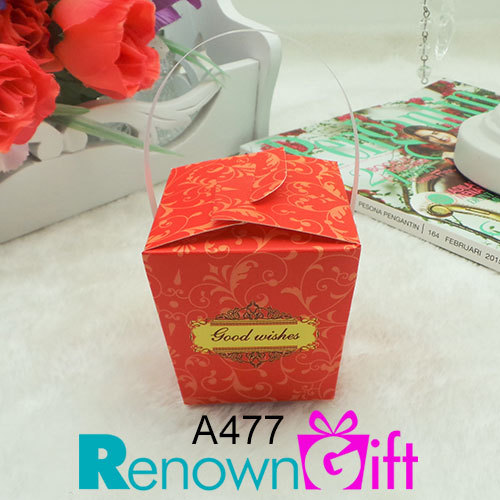 vector paper box-red