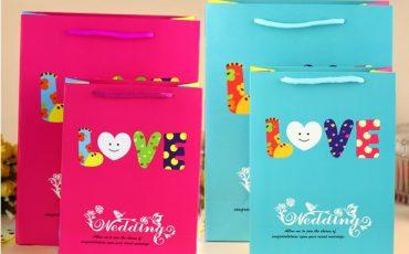 Love Wedding Paper Bag