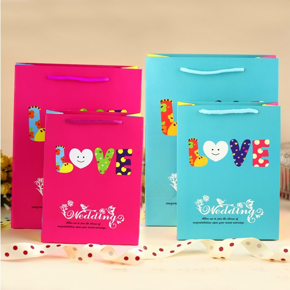 Love Wedding Paper Bag
