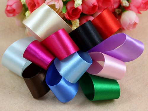 satin ribbons flowers