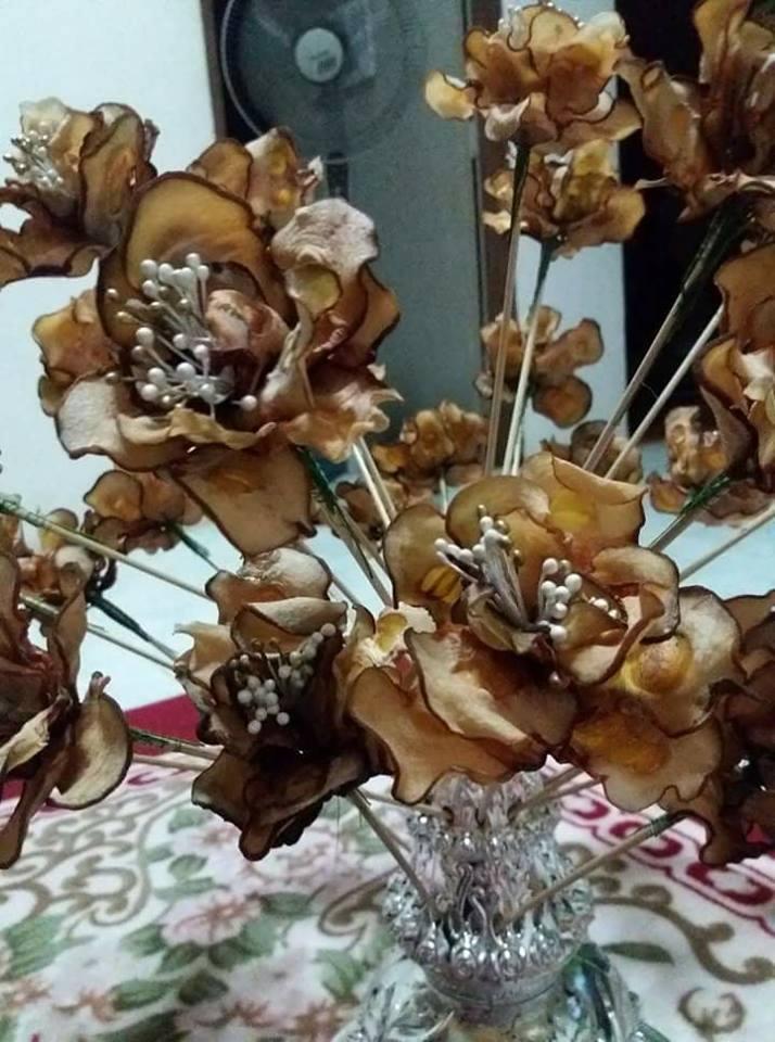 bunga telur asam keping